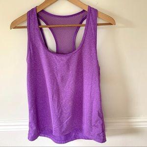 Lorna Jane purple workout top
